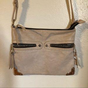 CESCA Cream Color Crossover Bag Adjustable Strap